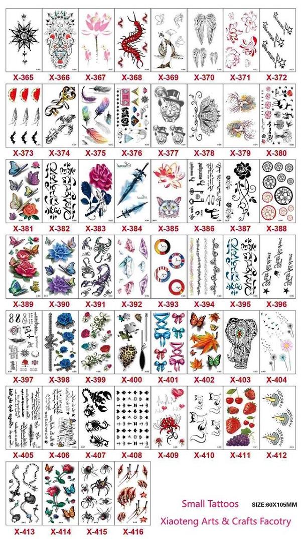 Catalogue các kiểu hình xăm