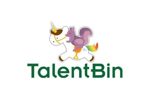 Logo TalentBin gây ấn tượng với hình ảnh sóc tím cưỡi kỳ lân