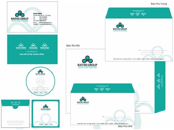 Bản sắc doanh nghiệp cũng thể hiện qua bộ nhận diện thương hiệu