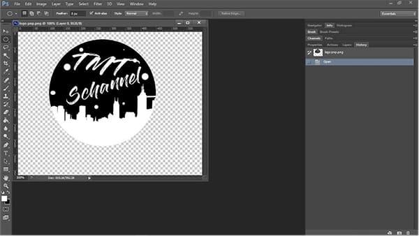 tạo logo hình tròn trong photoshop