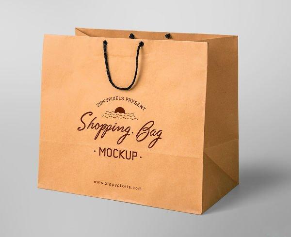 Túi giấy bằng chất liệu Kraft có giá thành rẻ và thân thiện với môi trường