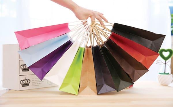 túi giấy môi trường đa màu sắc