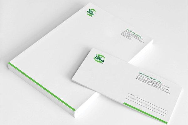 giấy tiêu đề nên thiết kế đơn giản