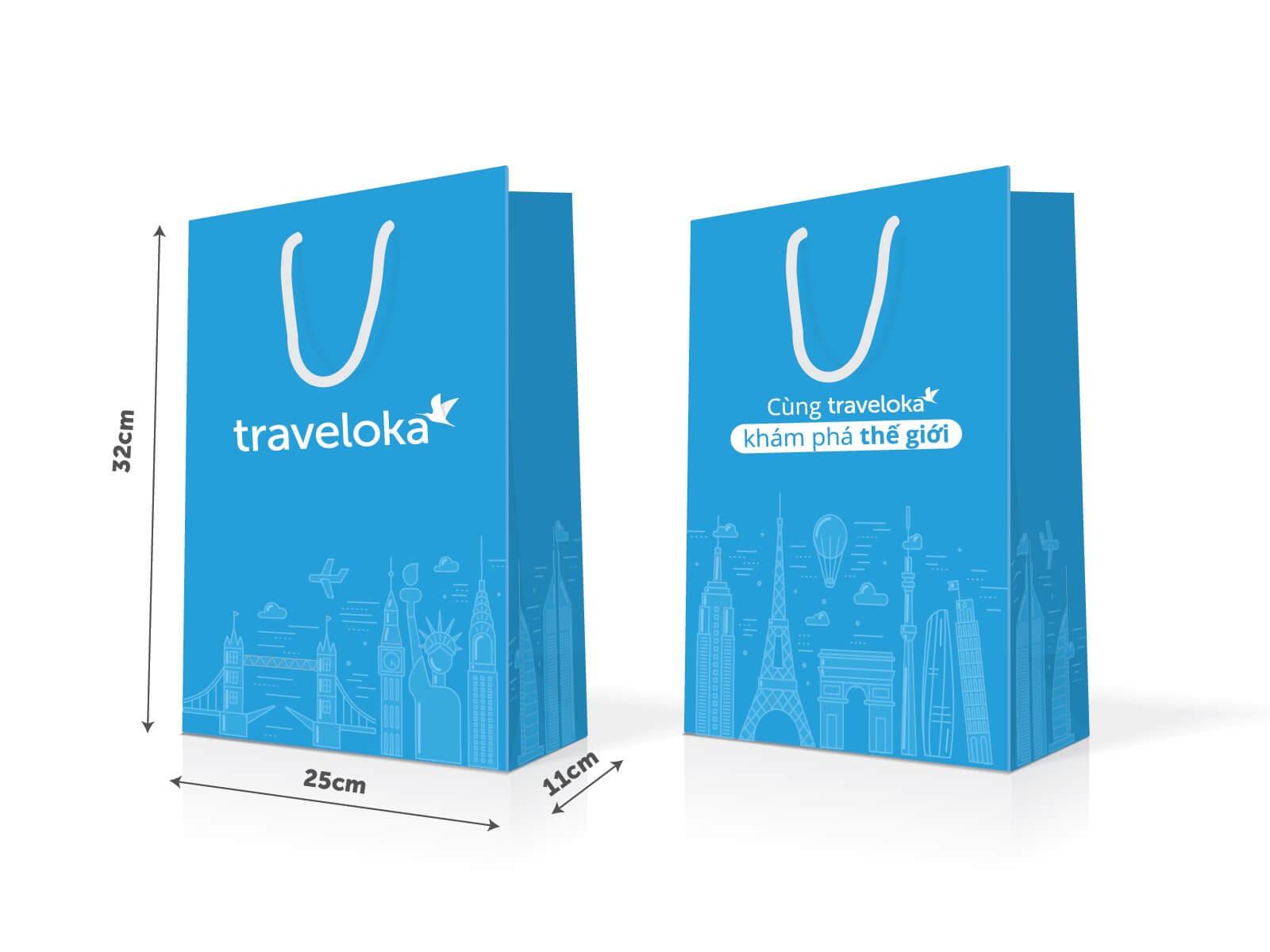 mẫu túi giấy thiết kế kiểu du lịch