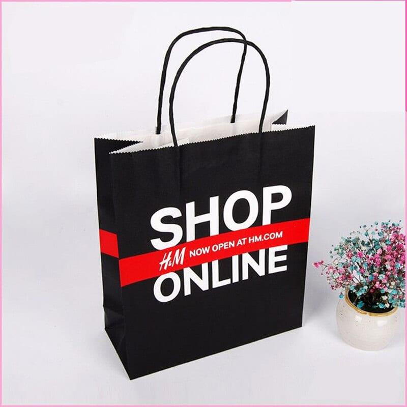 thiết kế túi giấy cho cửa hàng online