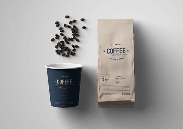 thiết kế túi giấy đựng cafe
