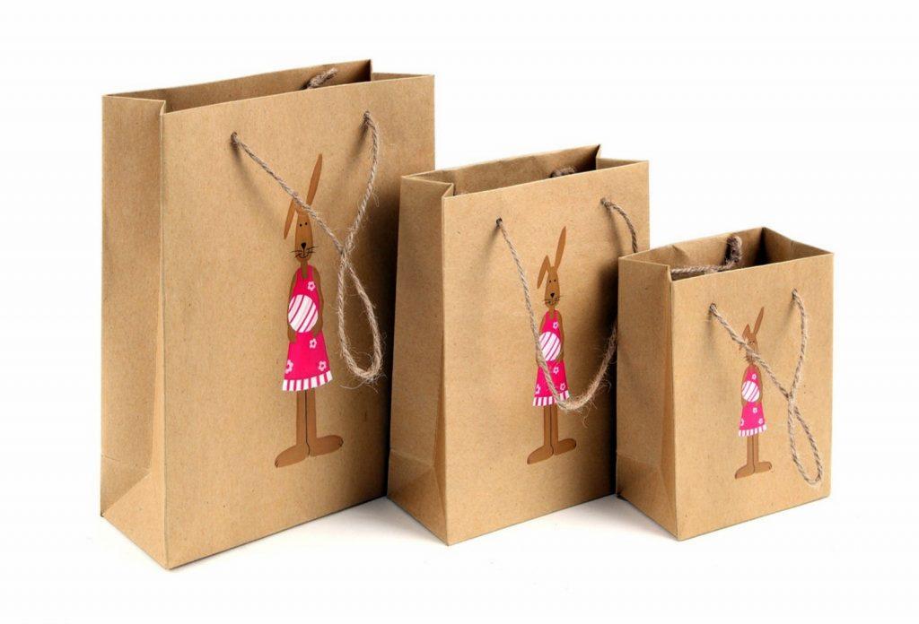 Mẫu túi giấy kraft in hình thỏ dễ thương