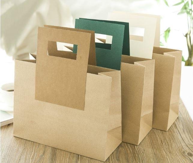 Túi giấy kraft giá rẻ trơn, có quai