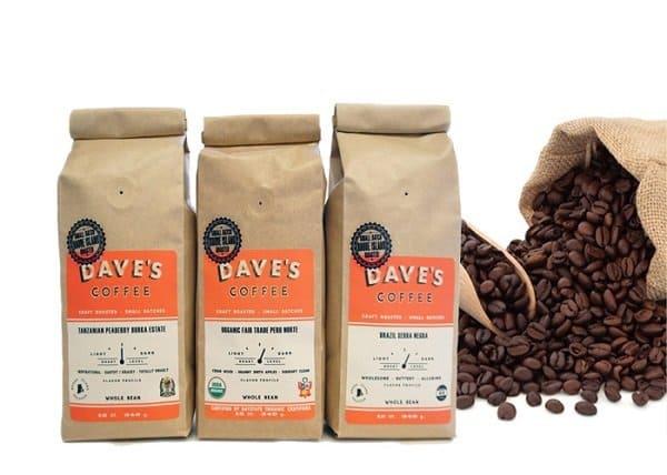 Túi giấy đựng cà phê dave's