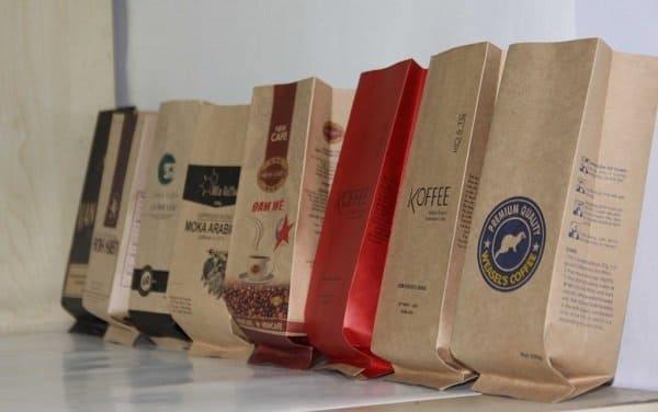 túi giấy đựng cà phê