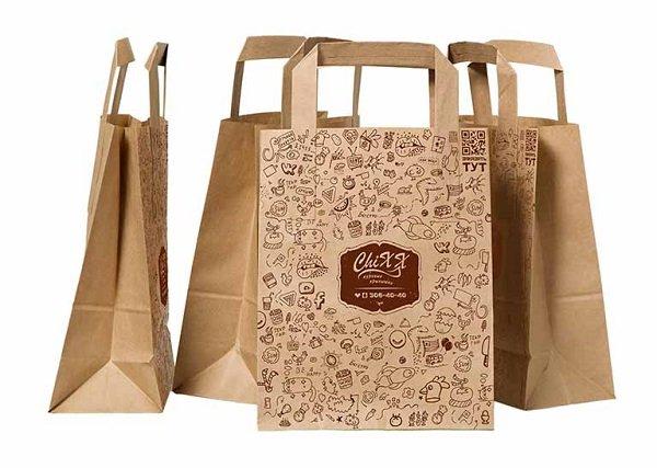 Túi giấy Kraft hoa văn đơn giản