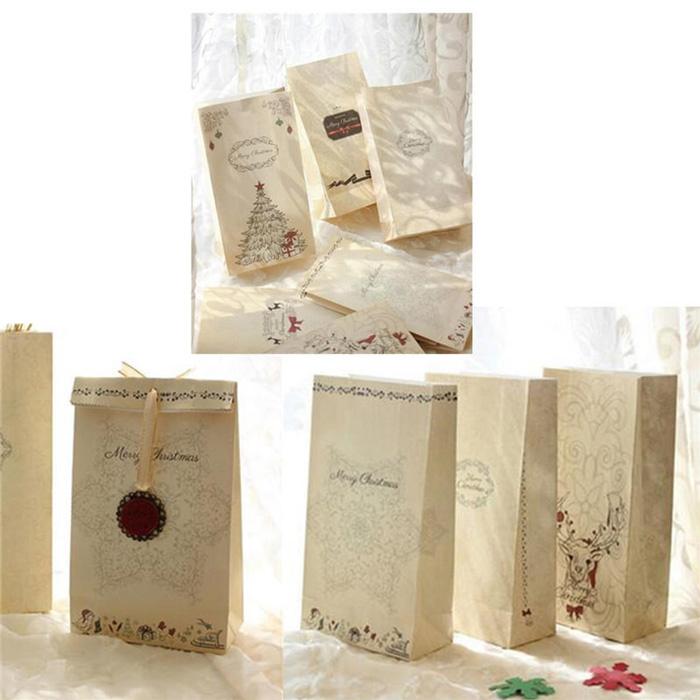 Những mẫu túi giấy Kraft Giáng Sinh mới nhất