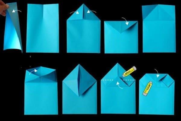 làm túi giấy đơn giản