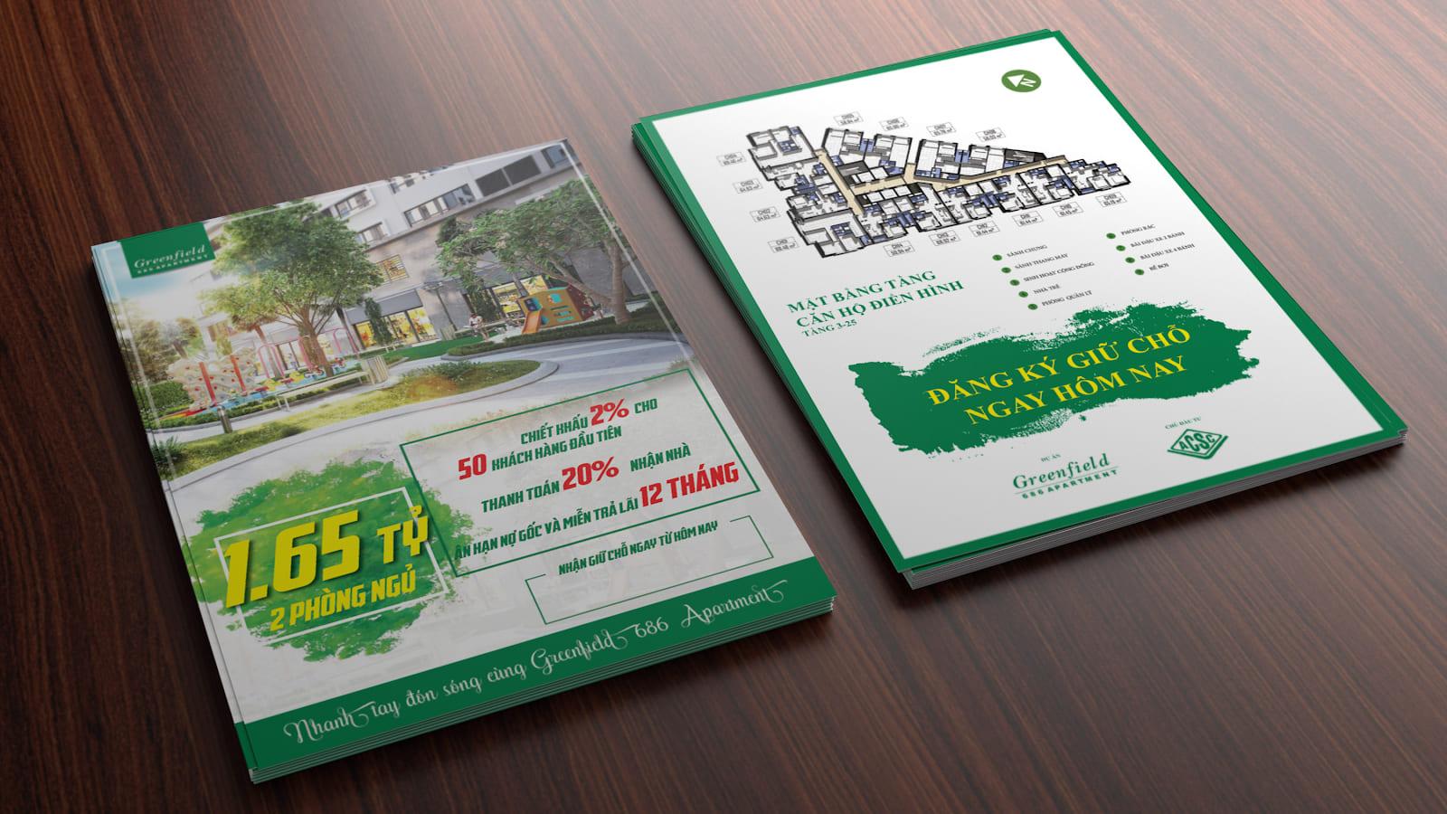 thiết kế flyer bất động sản sang trọng