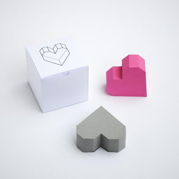cách gấp hộp giấy hình trái tim
