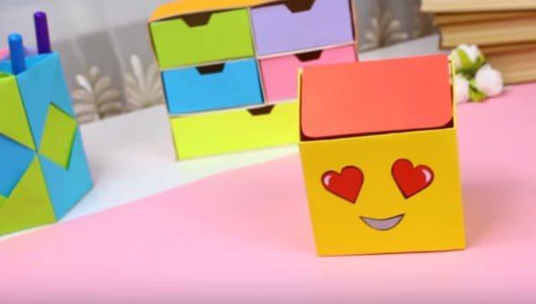 cách gấp hộp giấy vuông có nắp