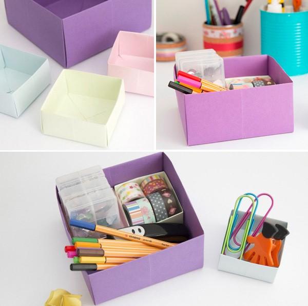 cách làm hộp giấy đựng đồ