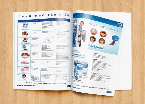catalogue đầy đủ thông tin