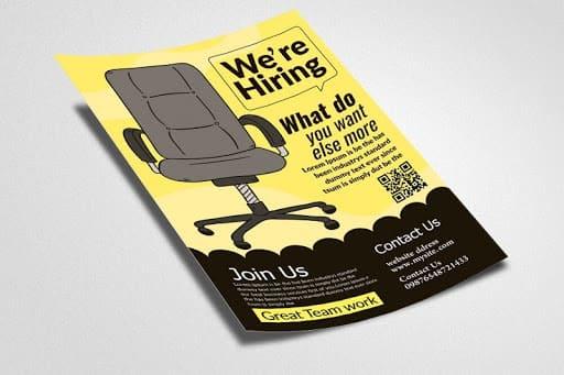 mẫu tờ rơi tuyển dụng