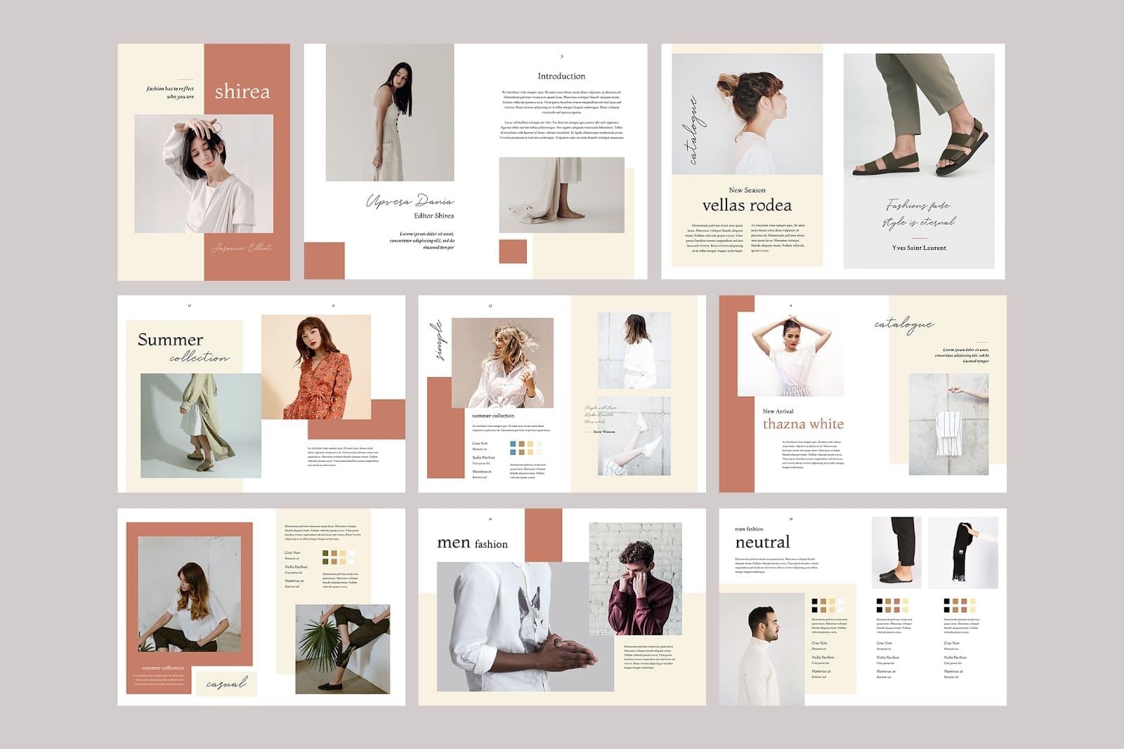 thiết kế mẫu catalogue đẹp