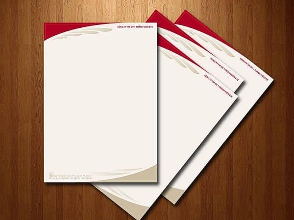 in letterhead đẹp