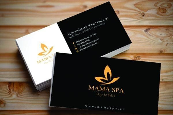 name card cho spa