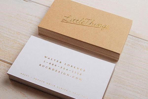 name card trang trọng