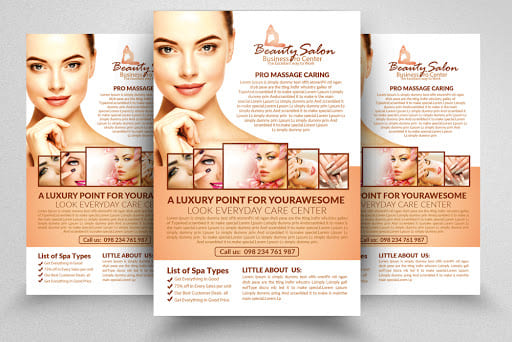 design spa flyer template