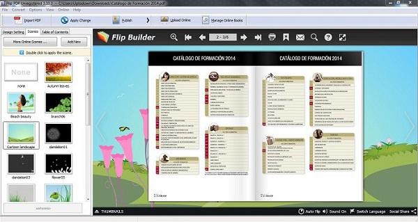 phần mềm FlipBuilder