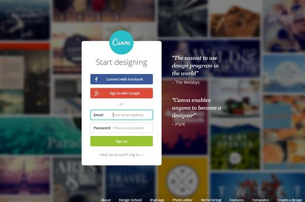 phần mềm thiết kế đơn giản Canva