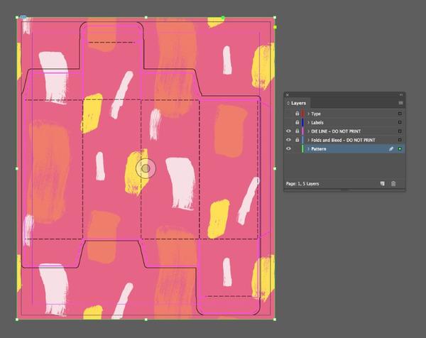 thiết kế hộp giấy bằng AI