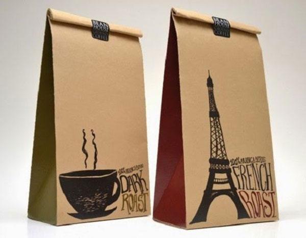 túi dừng coffee đơn giản