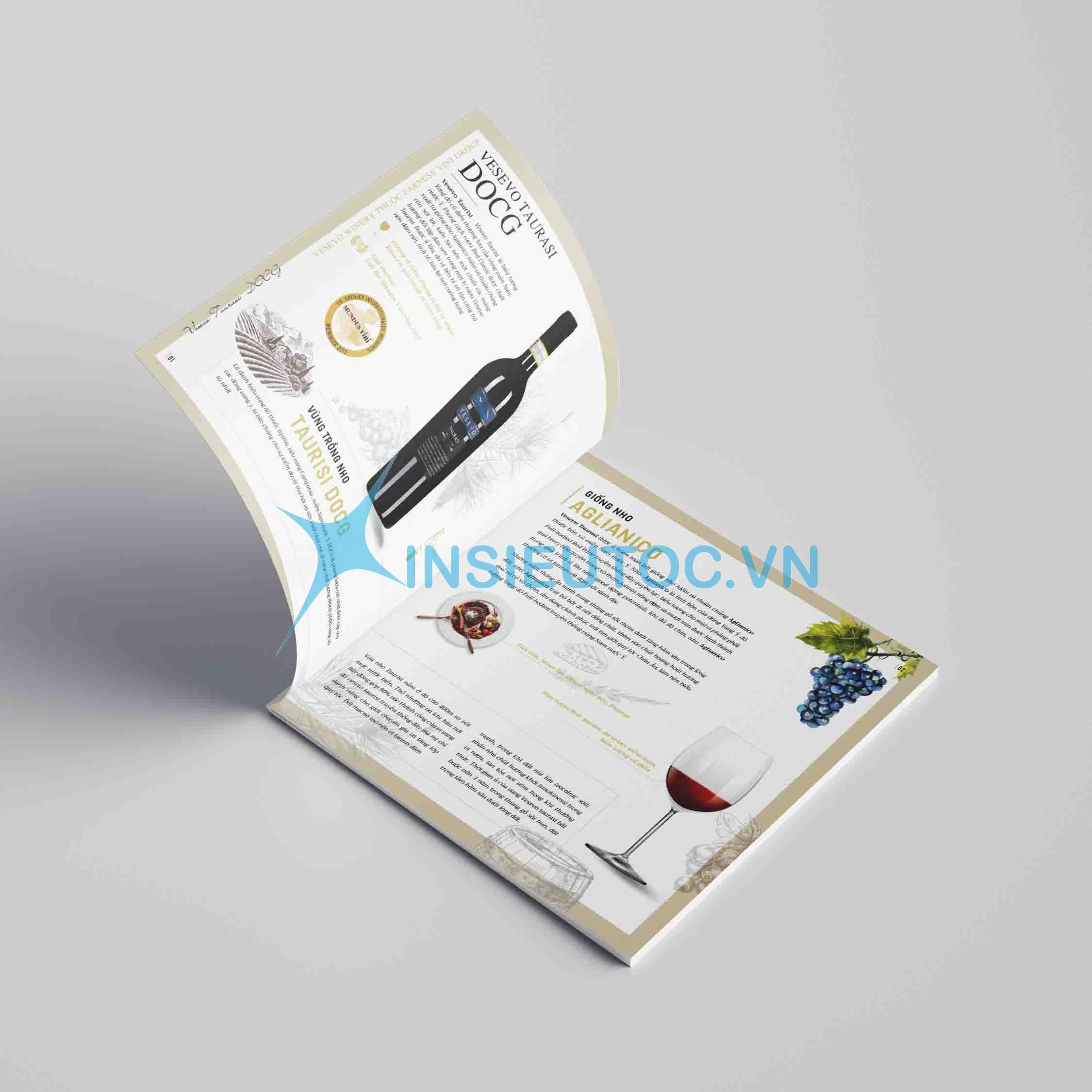 Thiết kế catalog hãng rượu