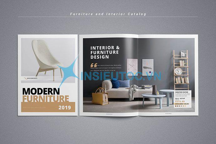 Thiết kế catalog nộiI thất In Siêu Tốc
