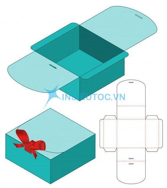 vector hộp quà bằng giấy
