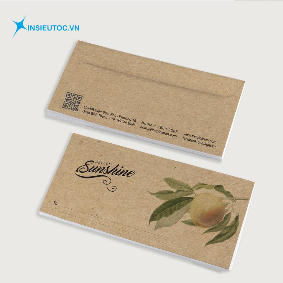 in ấn decal giấy kraft