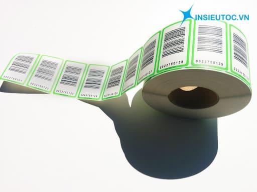 các loại giấy decal in mã vạch