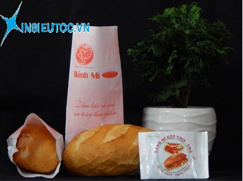 in túi giấy đựng bánh mì số lượng ít