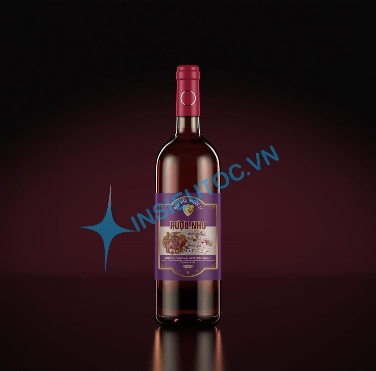 thiết kế tem nhãn rượu