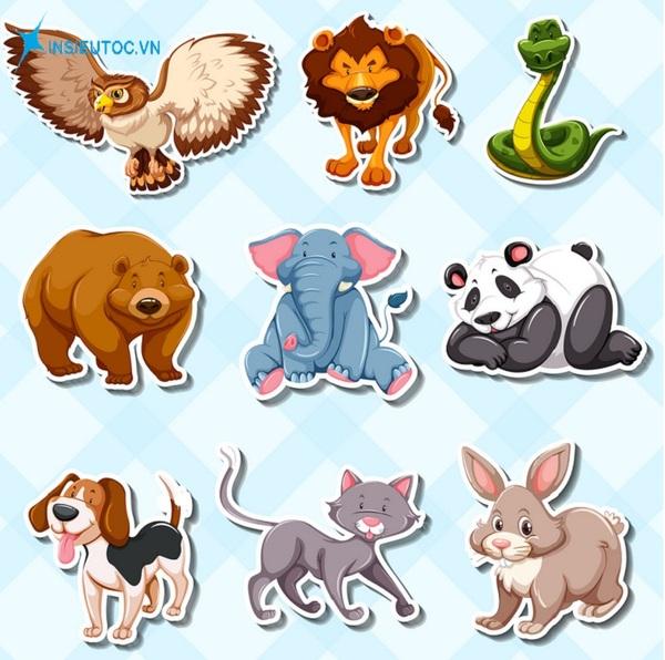 các mẫu sticker con vật đẹp - In Siêu Tốc