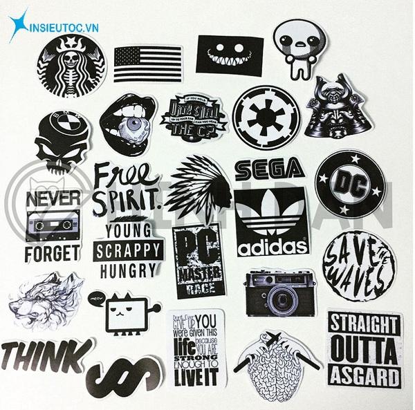 các mẫu sticker dán tường đen trắng - In Siêu Tốc