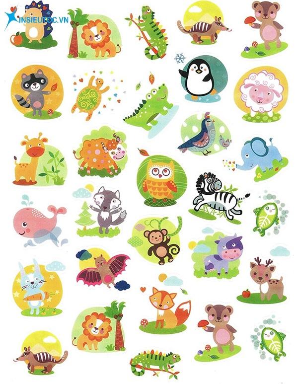 các mẫu sticker đẹp dễ thương - In Siêu Tốc