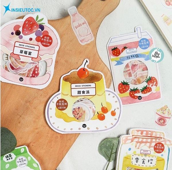 các mẫu sticker đồ ăn - In Siêu Tốc