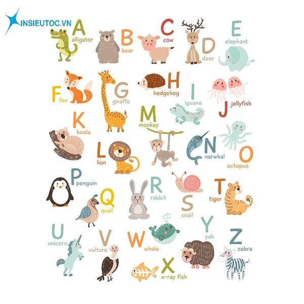 các mẫu sticker động vật hoạt hình đẹp - In Siêu Tốc