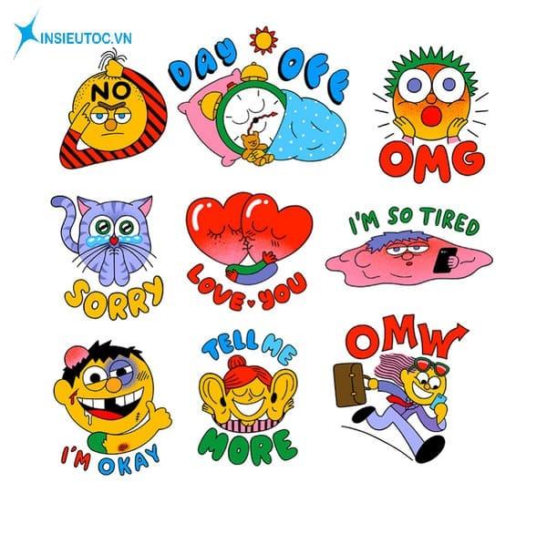 các mẫu sticker động vật hoạt hình - In Siêu Tốc