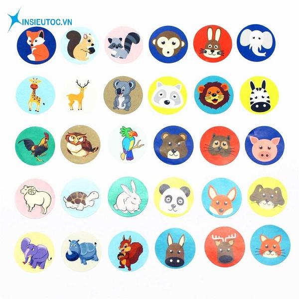 các mẫu sticker động vật - In Siêu Tốc