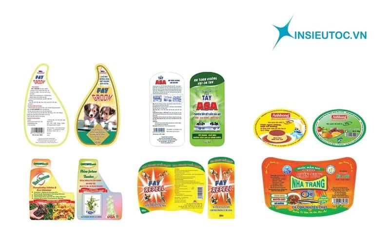 Kích thước tem nhãn hàng tiêu dùng tùy thuộc vào kích cỡ, hình dáng sản phẩm