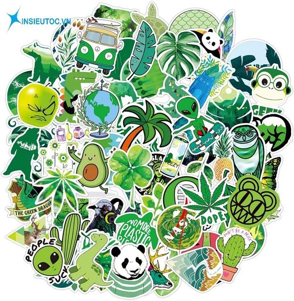 mẫu sticker cây cối đẹp - In Siêu Tốc