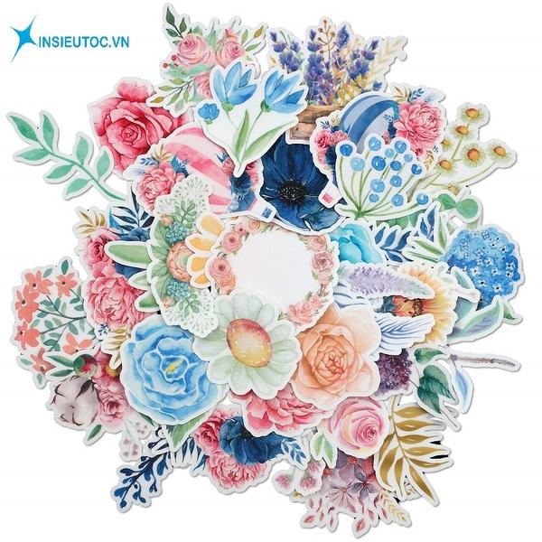 mẫu sticker hoa lá đẹp đơn giản - In Siêu Tốc