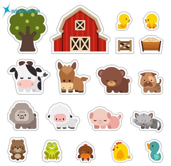 mẫu sticker nông trại đẹp - In Siêu Tốc